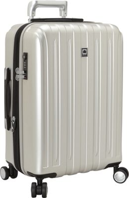 Delsey Helium Titanium Carry-On Expandable Spinner Trolley Silver - Delsey Hardside Carry-On