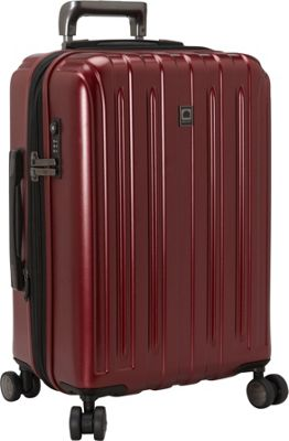 Delsey Helium Titanium Carry-On Expandable Spinner Trolley Black Cherry - Delsey Hardside Carry-On