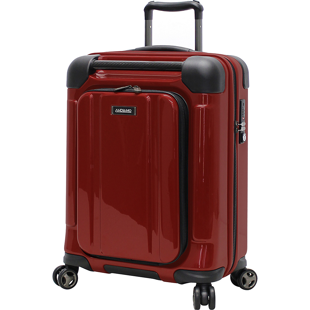 "Andiamo Pantera 20"" Hardside Carry-On Spinner Lava Red - And"