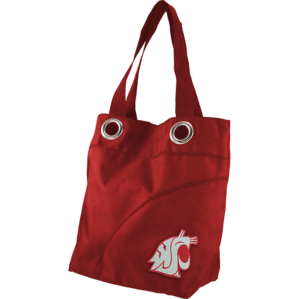 Littlearth Color Sheen Tote - Pac 12 Teams Washington State University - Littlearth Fabric Handbags - Handbags, Fabric Handbags