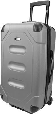 U.S. Traveler Long Haul 24 inch Cargo Trunk Luggage Steel Gray - U.S. Traveler Hardside Checked