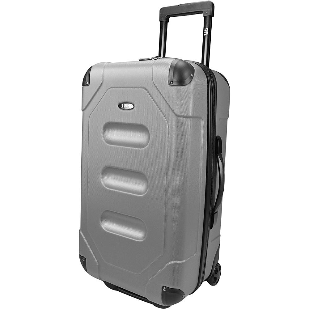U.S. Traveler Long Haul 24 Cargo Trunk Luggage Steel Gray U.S. Traveler Hardside Checked