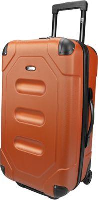U.S. Traveler Long Haul 24 inch Cargo Trunk Luggage Burnt Orange - U.S. Traveler Hardside Checked