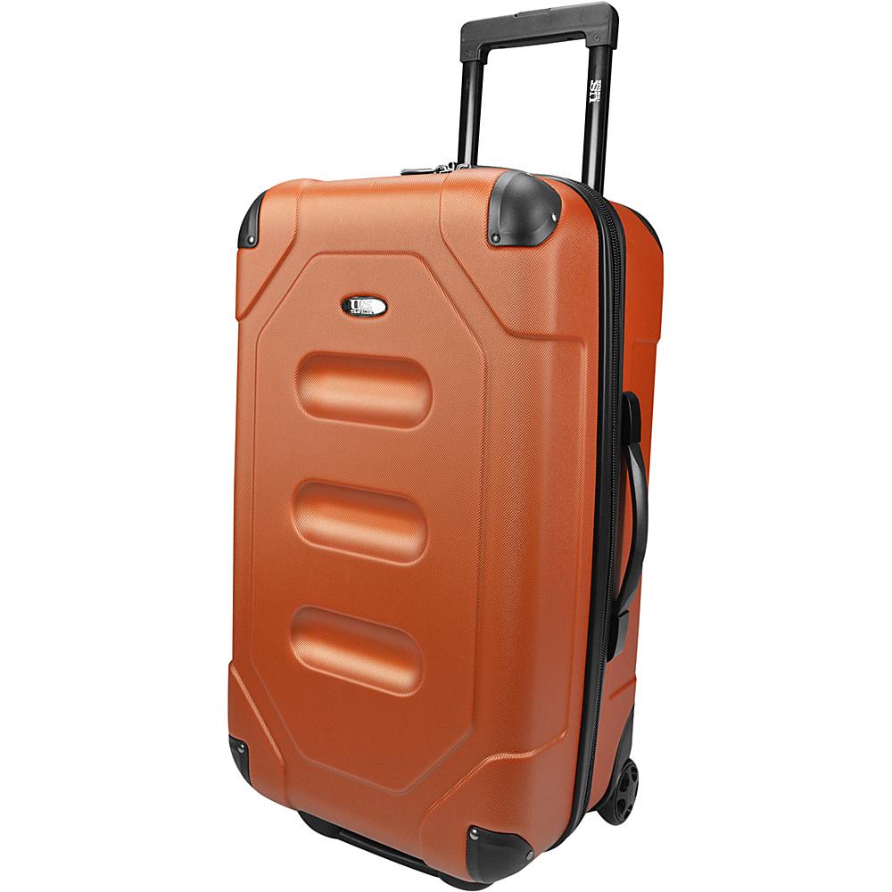U.S. Traveler Long Haul 24 Cargo Trunk Luggage Burnt Orange U.S. Traveler Hardside Checked
