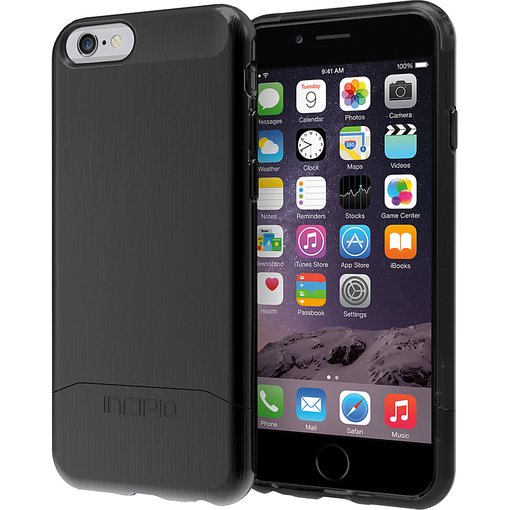 Incipio Edge SHINE iPhone 6 6s Case Black Black Incipio Electronic Cases