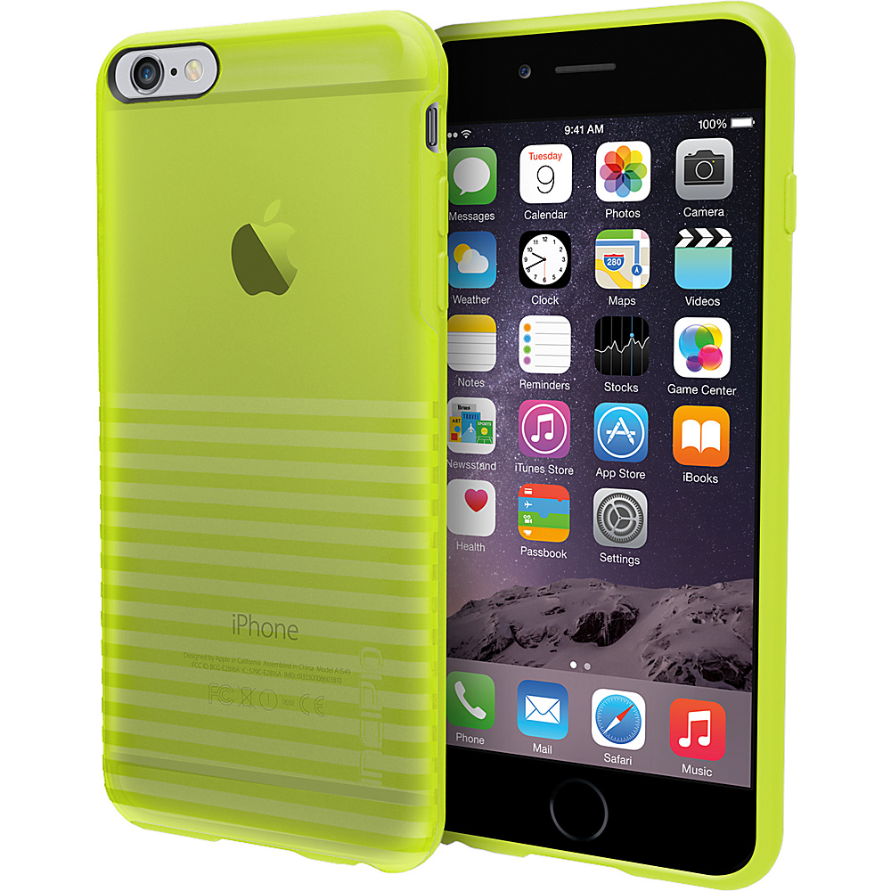 Incipio Rival for iPhone 6 6s Plus Case Translucent Electric Lime Incipio Electronic Cases