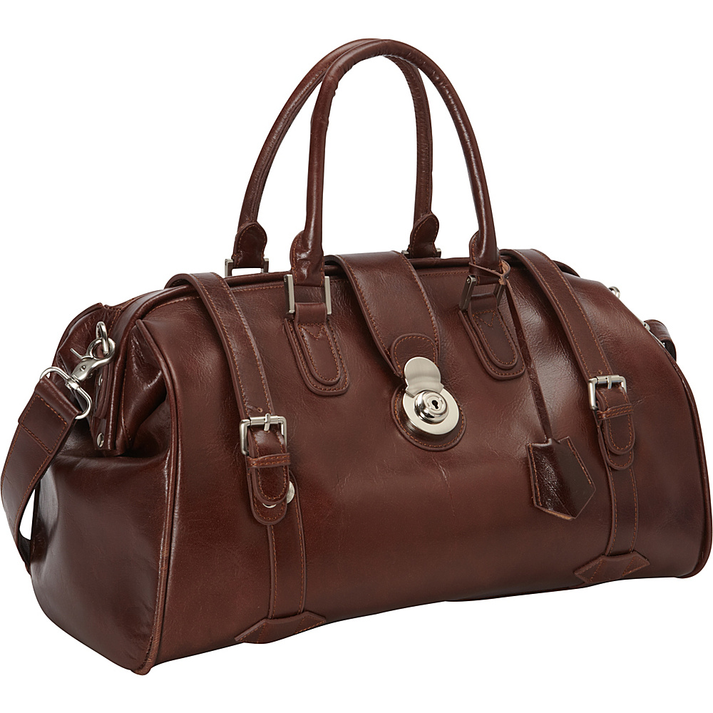 AmeriLeather Langam Duffel Waxy Brown - AmeriLeather Travel Duffels - Duffels, Travel Duffels