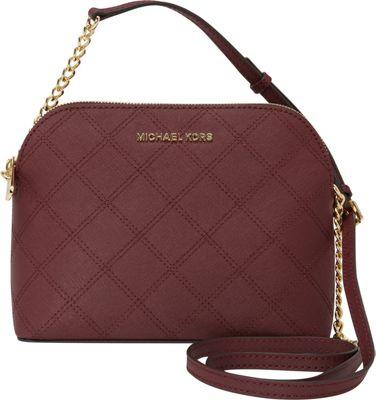 MICHAEL Michael Kors Cindy Large Dome Crossbody Merlot - MICHAEL Michael Kors Designer Handbags