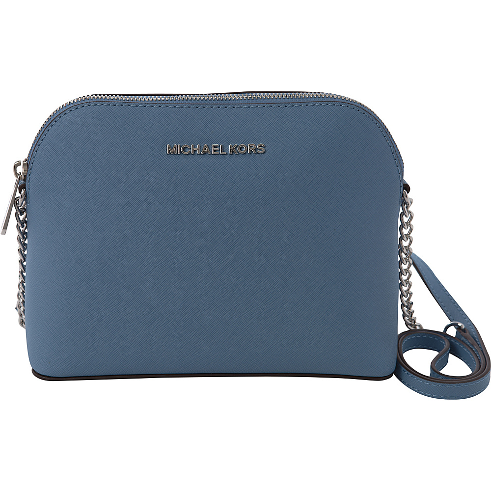 MICHAEL Michael Kors Cindy Large Dome Crossbody Sky - MICHAEL Michael Kors Designer Handbags
