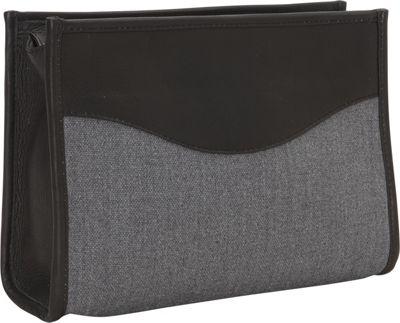 Piel Canvas Toiletry Kit Black - Piel Toiletry Kits