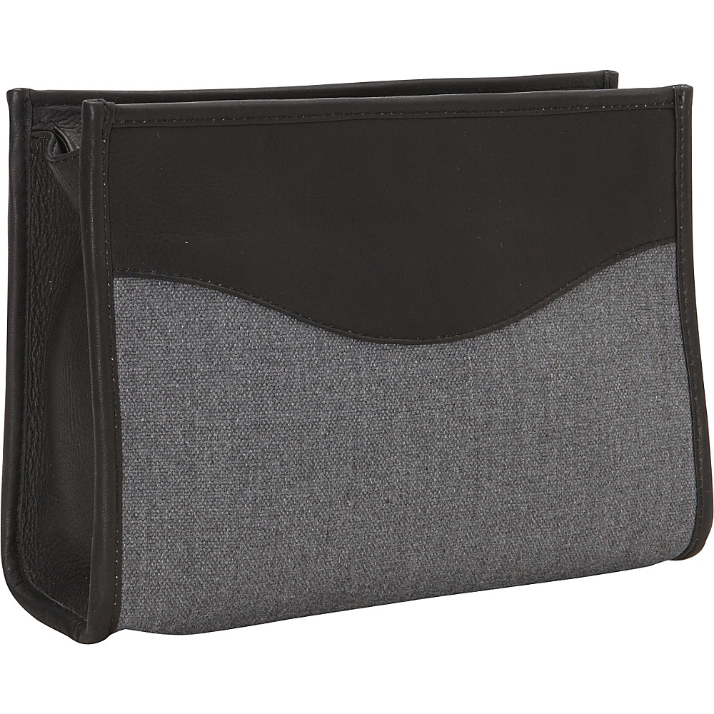Piel Canvas Toiletry Kit Black - Piel Toiletry Kits - Travel Accessories, Toiletry Kits