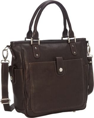 Piel Tablet Shoulder Bag/Cross Body Chocolate - Piel Leather Handbags