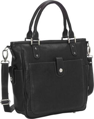 Piel Tablet Shoulder Bag/Cross Body Black - Piel Leather Handbags