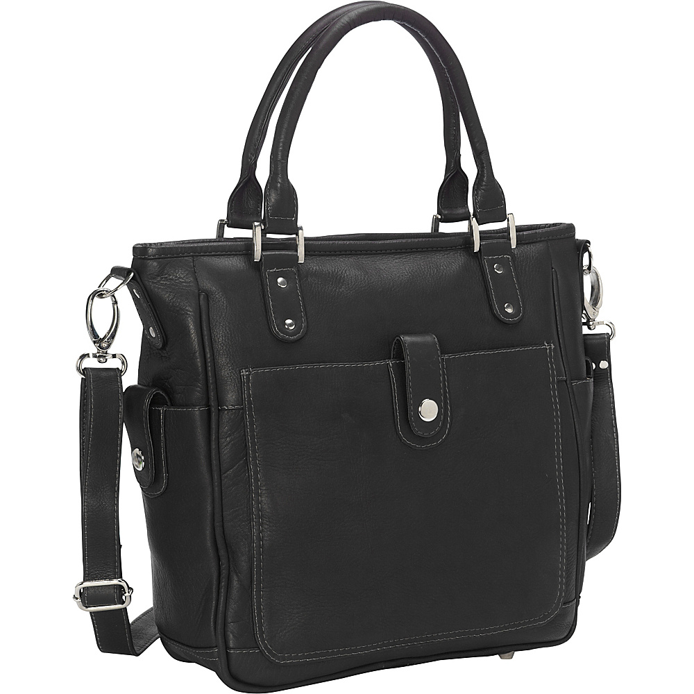 Piel Tablet Shoulder Bag/Cross Body Black - Piel Leather Handbags - Handbags, Leather Handbags