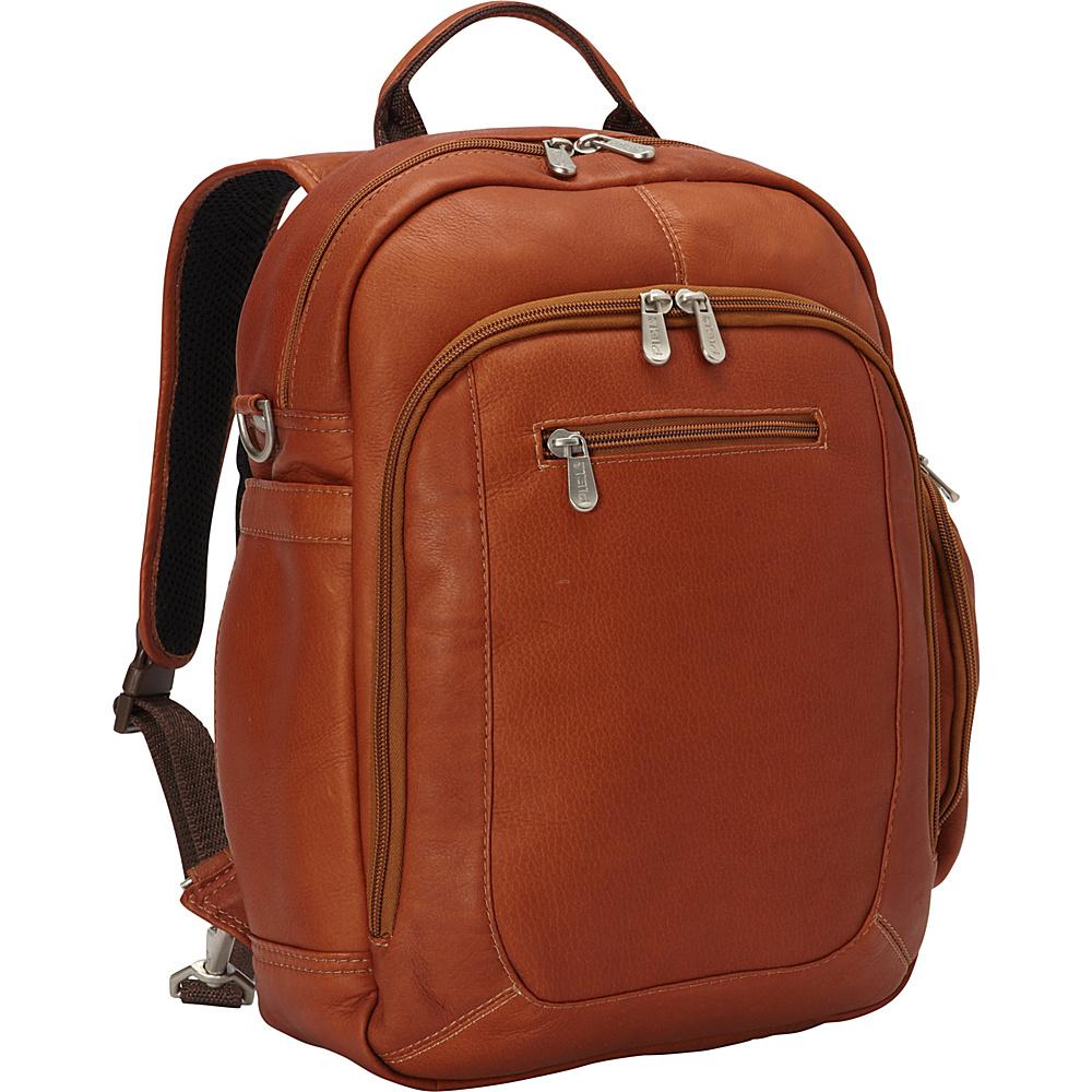 Piel Laptop Backpack Handbag Saddle - Piel Business & Laptop Backpacks - Backpacks, Business & Laptop Backpacks