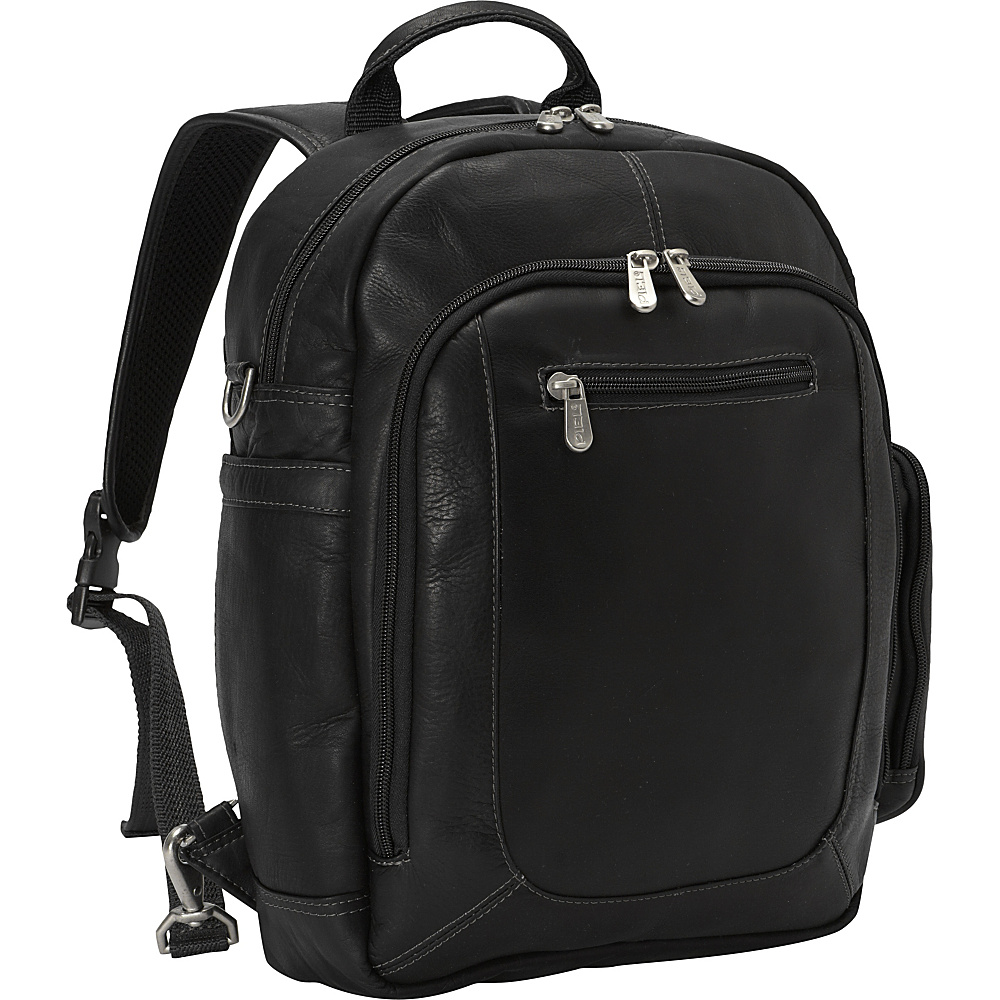 Piel Laptop Backpack Handbag Black - Piel Business & Laptop Backpacks - Backpacks, Business & Laptop Backpacks