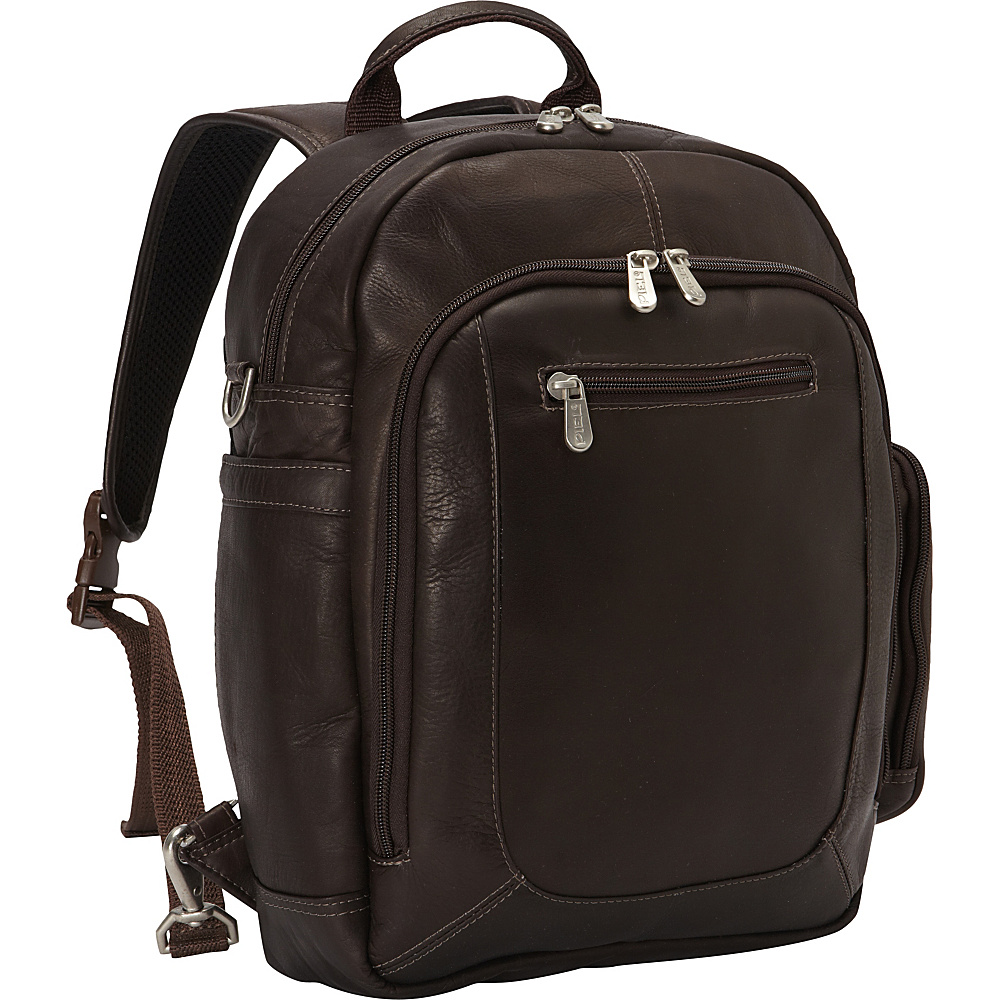 Piel Laptop Backpack Handbag Chocolate - Piel Business & Laptop Backpacks - Backpacks, Business & Laptop Backpacks
