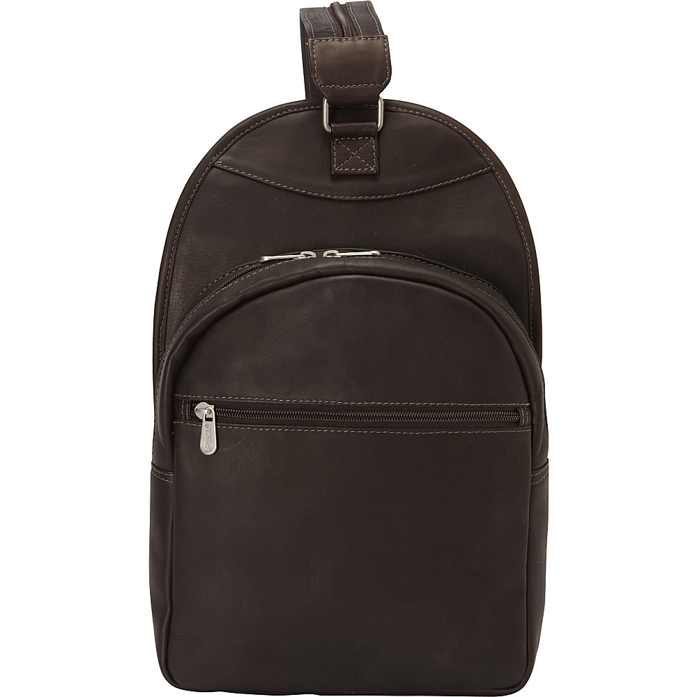 Piel Slim Adventurer Sling Backpack Chocolate - Piel Leather Handbags - Handbags, Leather Handbags