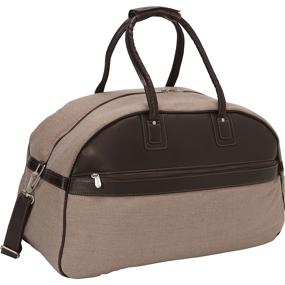 Piel Travel Satchel Chocolate - Piel Rolling Duffels - Luggage, Rolling Duffels