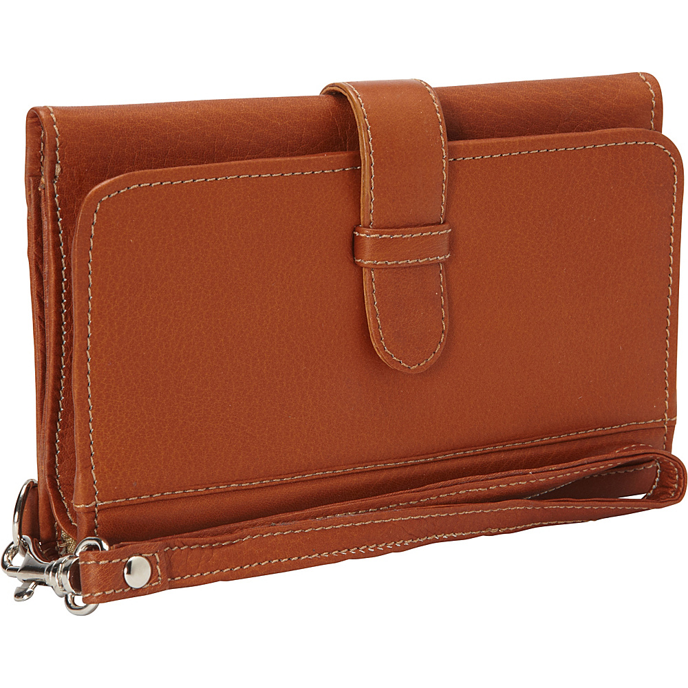 Piel Card Case & Phone Wristlet Saddle - Piel Womens Wallets - Women's SLG, Women's Wallets