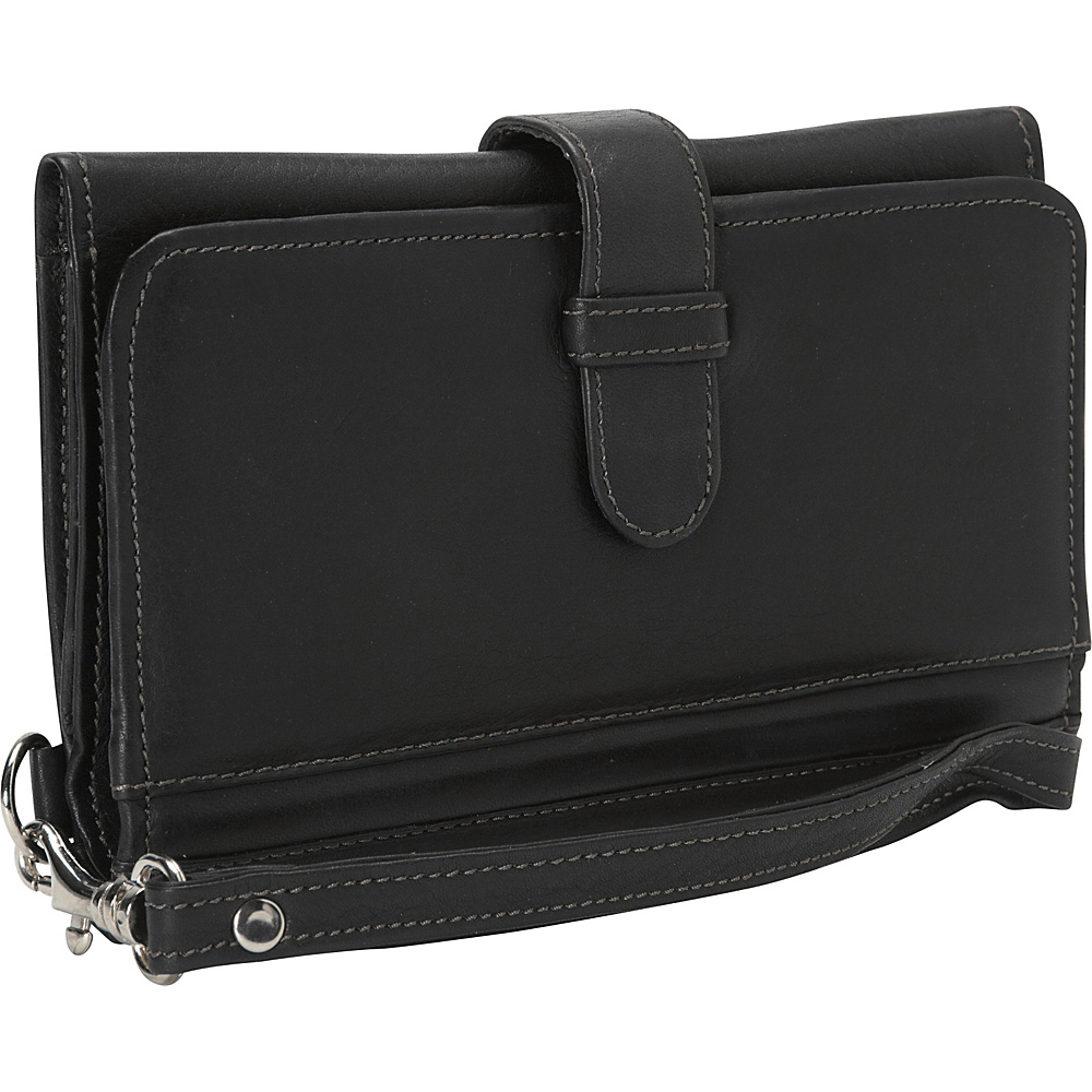 Piel Card Case & Phone Wristlet Black - Piel Womens Wallets - Women's SLG, Women's Wallets