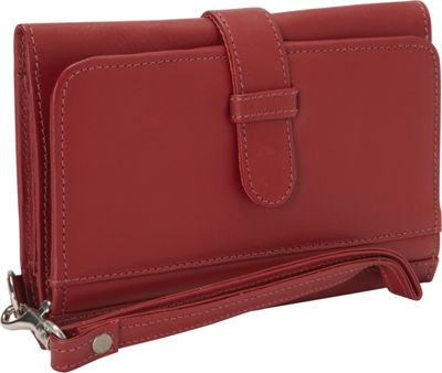 Piel Card Case & Phone Wristlet Red - Piel Ladies Small Wallets