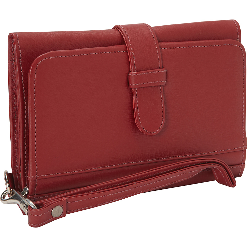 Piel Card Case & Phone Wristlet Red - Piel Womens Wallets - Women's SLG, Women's Wallets