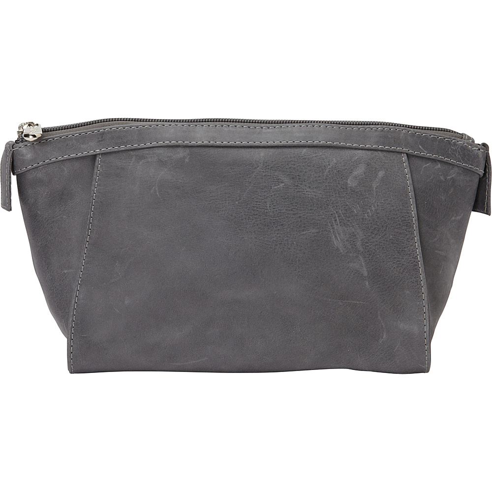 Piel Zippered Travel Toiletry Kit Charcoal - Piel Toiletry Kits - Travel Accessories, Toiletry Kits