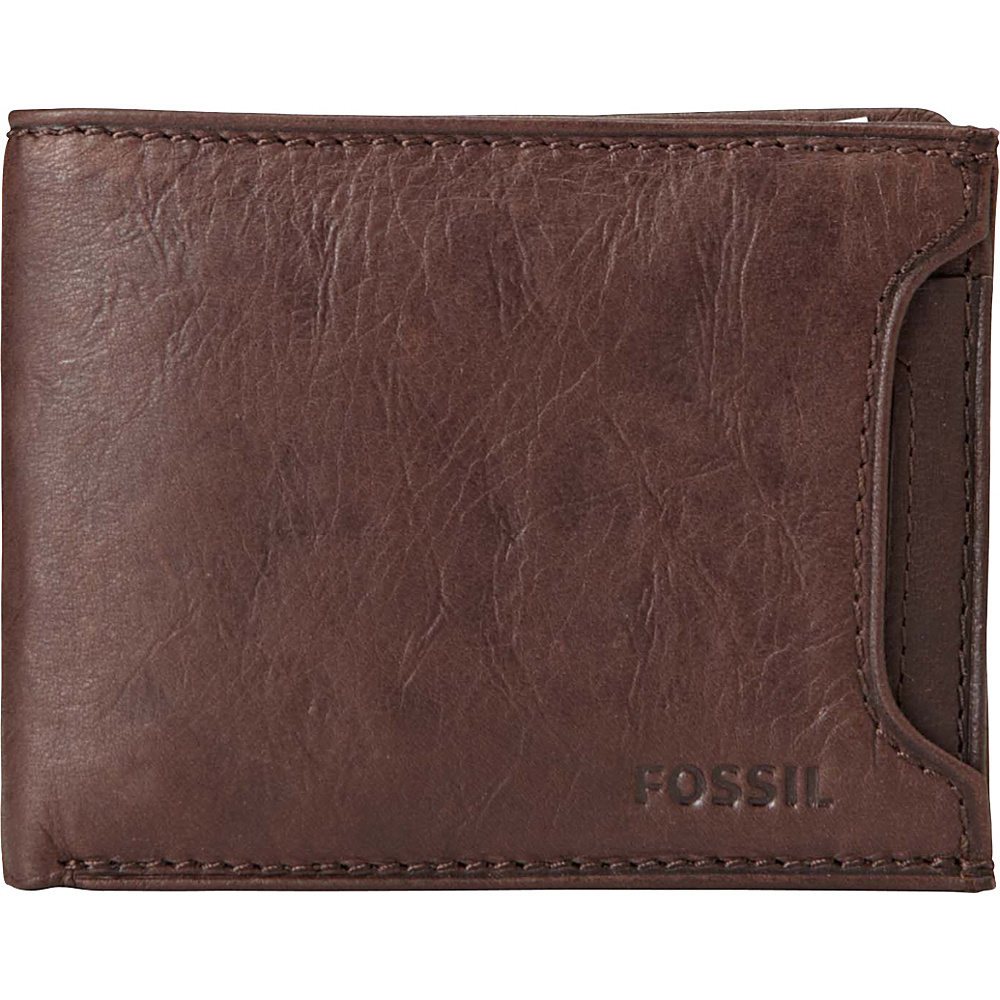 Fossil Ingram Sliding 2 in 1 Wallet Brown - Fossil Mens Wallets - Work Bags & Briefcases, Men's Wallets