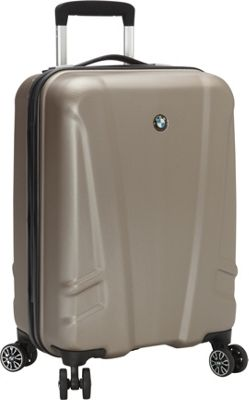 BMW Luggage 19 inch Carry-On Split Case  8 Wheel Spinner Champagne - BMW Luggage Hardside Carry-On