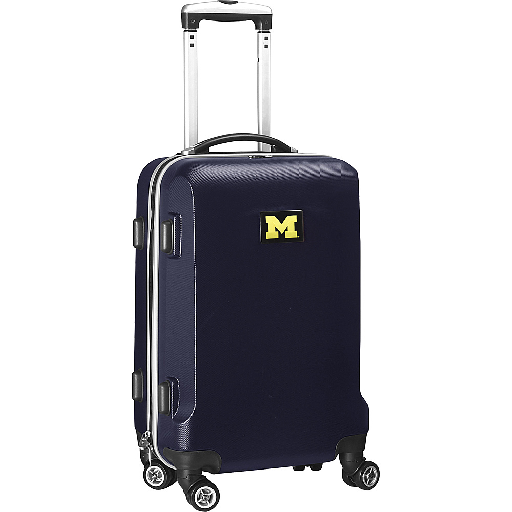 Denco Sports Luggage NCAA 20 Domestic Carry-On Navy University of Michigan Wolverines - Denco Sports Luggage Hardside Carry-On - Luggage, Hardside Carry-On
