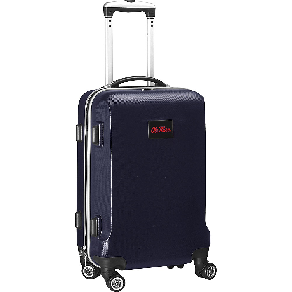 Denco Sports Luggage NCAA 20 Domestic Carry-On Navy University of Mississippi Rebels - Denco Sports Luggage Hardside Carry-On - Luggage, Hardside Carry-On