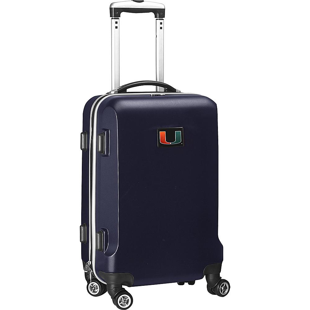 Denco Sports Luggage NCAA 20 Domestic Carry-On Navy University of Miami Hurricanes - Denco Sports Luggage Hardside Carry-On - Luggage, Hardside Carry-On