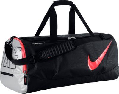 Nike Court Tech Duffle Black/Metallic Silver/Hot Lava - Nike All Purpose Duffels