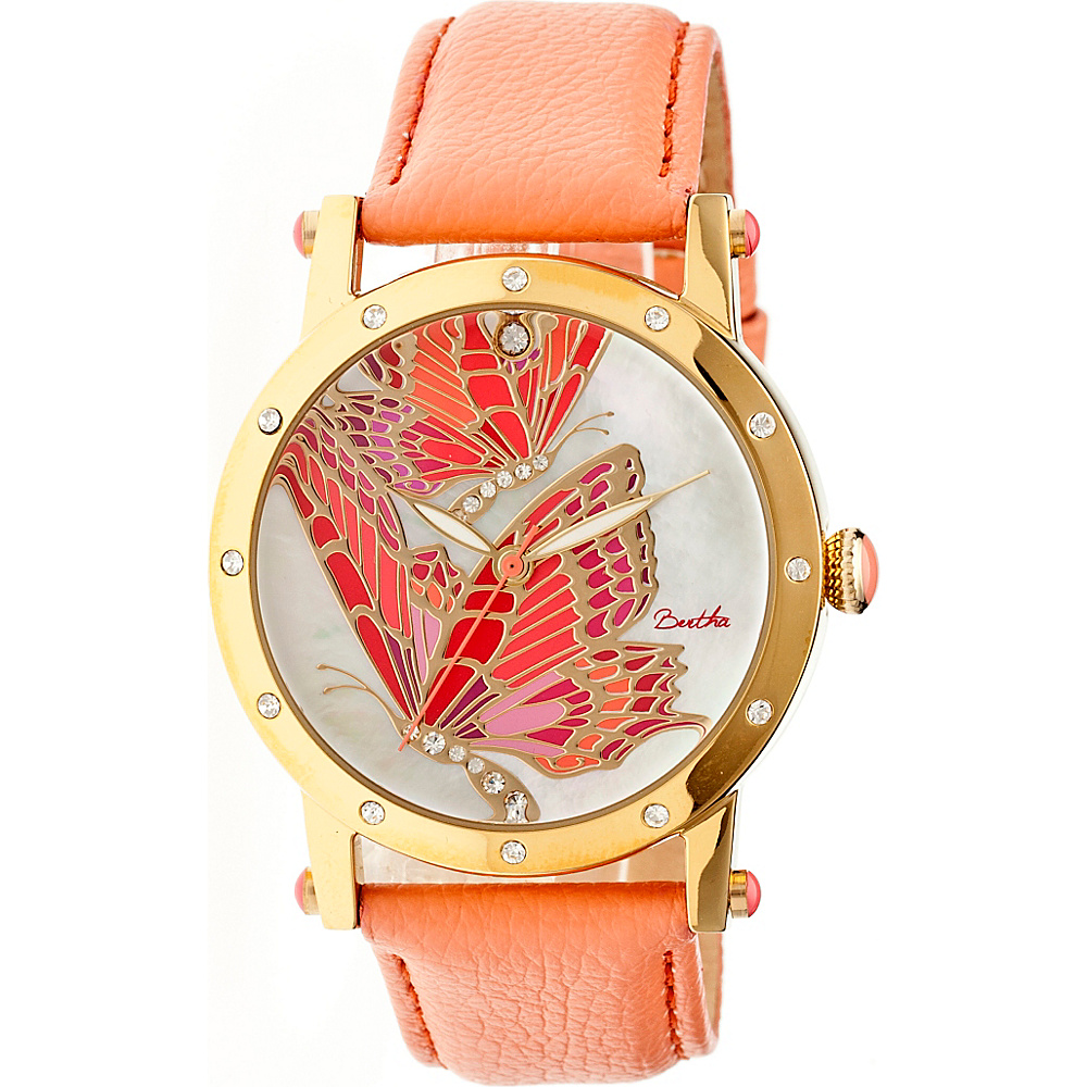 Bertha Watches Isabella Watch Coral Multicolor Bertha Watches Watches