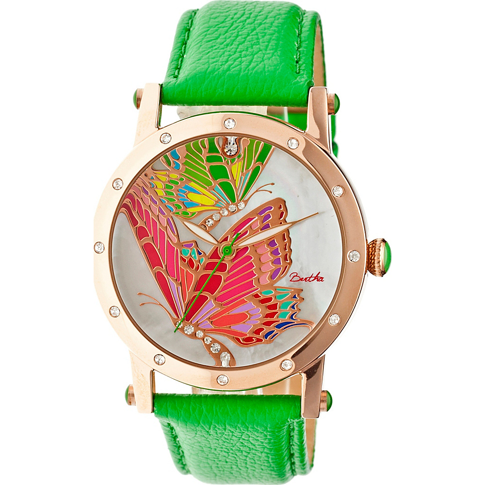 Bertha Watches Isabella Watch Green Multicolor Bertha Watches Watches