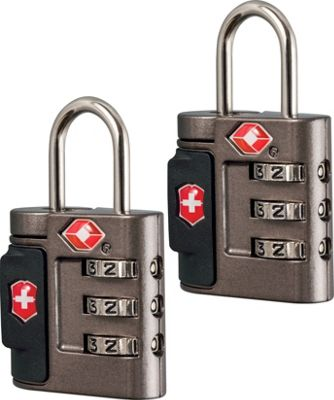 Victorinox Lifestyle Accessories 4.0 Travel Sentry Approved Combination Lock Set Grey - Victorinox Luggage Accessories