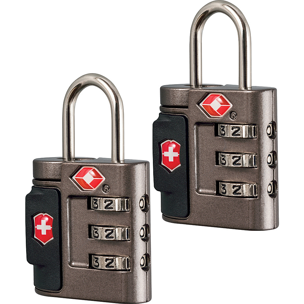 Victorinox Lifestyle Accessories 4.0 Travel Sentry Approved Combination Lock Set Grey Victorinox Luggage Accessories