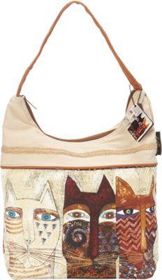 Laurel Burch Ancestral Cats Hobo Multi - Laurel Burch Fabric Handbags