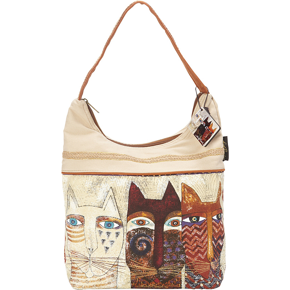 Laurel Burch Ancestral Cats Hobo Multi Laurel Burch Fabric Handbags