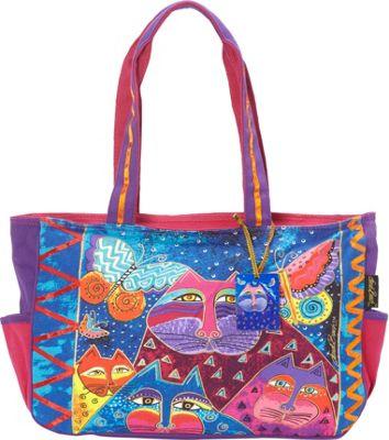 Laurel Burch Cats with Butterflies Shoulder Bag Multi - Laurel Burch Fabric Handbags