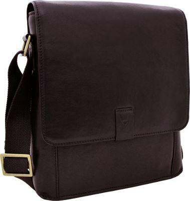 Hidesign Aiden Medium Leather Messenger Crossbody Bag Brown - Hidesign Messenger Bags