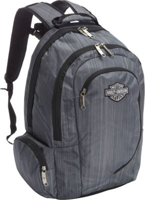 Harley Davidson by Athalon Backpack Steel Grey - Harley Davidson by Athalon Business & Laptop Backpacks