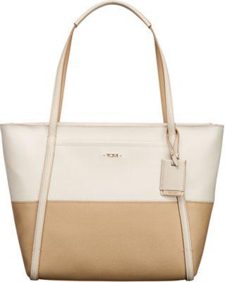 Tumi Sinclair Small Q-Tote Sand/Coconut - Tumi Designer Handbags