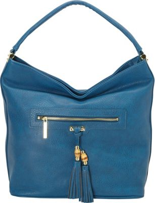 Olivia + Joy Salida Hobo Teal - Olivia + Joy Manmade Handbags