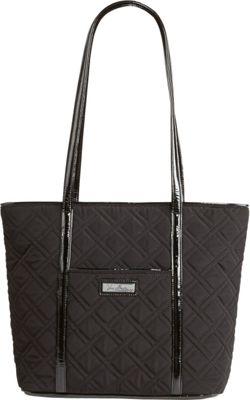 Vera Bradley Small Trimmed Vera - Solids Classic Black - Vera Bradley Fabric Handbags