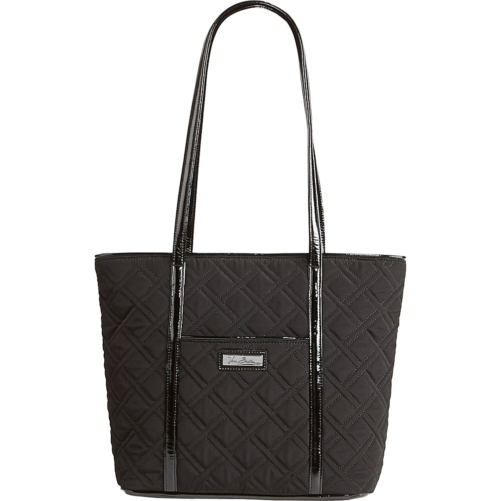 Vera Bradley Small Trimmed Vera Solids Classic Black Vera Bradley Fabric Handbags