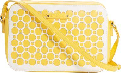 Vera Bradley Laser Cut Crossbody Yellow Geometric - Vera Bradley Fabric Handbags