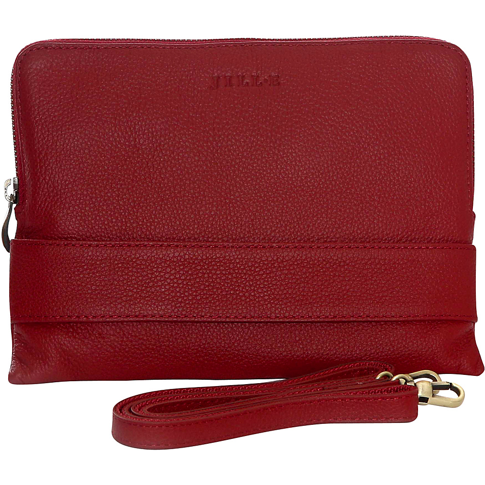 Jill e Designs Ivy 7 Leather Tablet Clutch Red Jill e Designs Electronic Cases