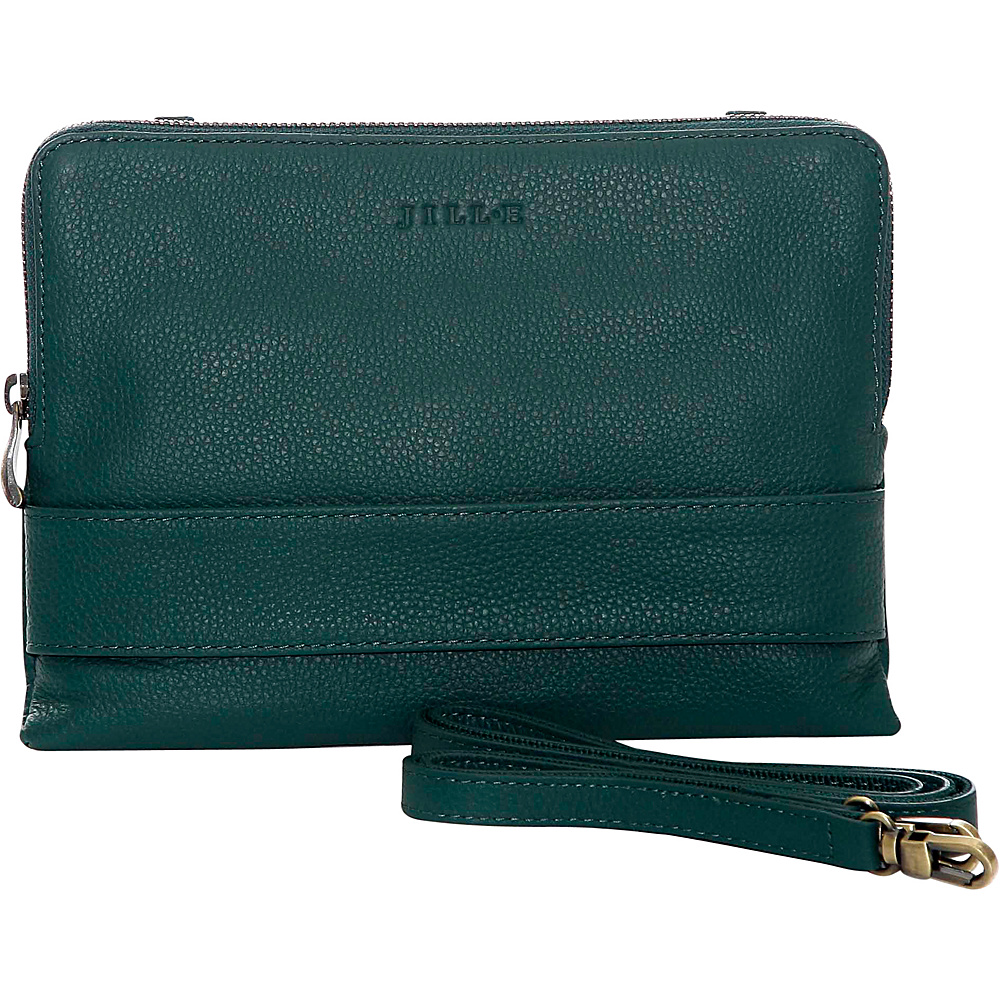 Jill e Designs Ivy 7 Leather Tablet Clutch Teal Jill e Designs Electronic Cases